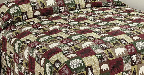 431272 Ashley Cooper Saranac Patch Bedspread Bedding