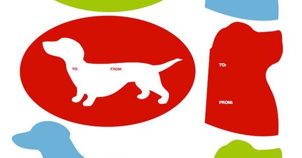 Dog gift tags