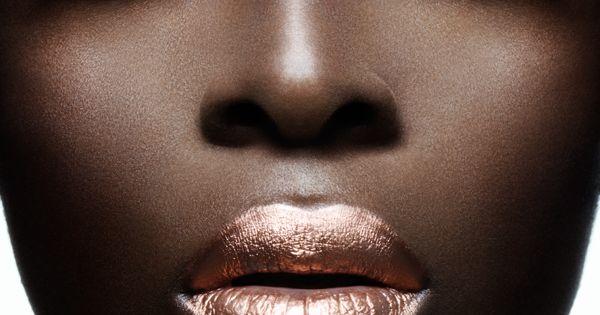 Makeup for Dark Skin :: Metallic makeup on dark brown skin. (rePinned