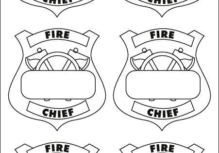 Printable Firefighter Badge Printable Fireman Badge