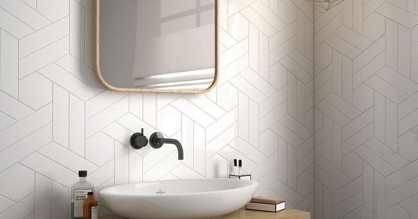 Chevron wall white scale hexagon white 18 6x5 2 for 6x5 bathroom ideas