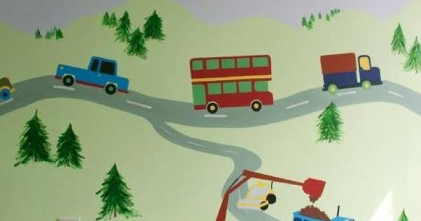 Jamie's transport theme toddler bedroom   Home Project ...