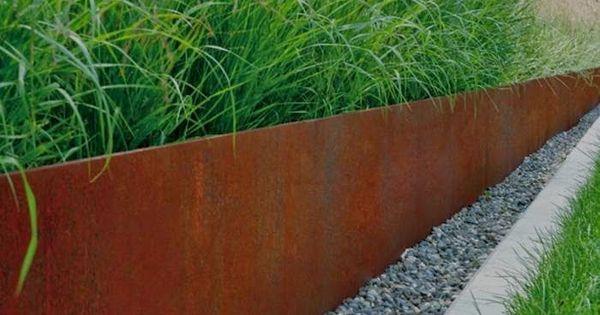 Bordures corten terrasse pinterest corten bordure for Bordure jardin acier corten