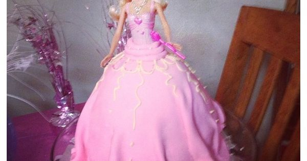 Barbie dress dress cake and marshmallow fondant on pinterest
