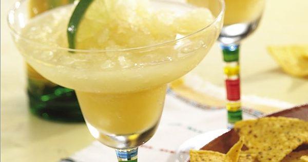 Frozen white wine margaritas