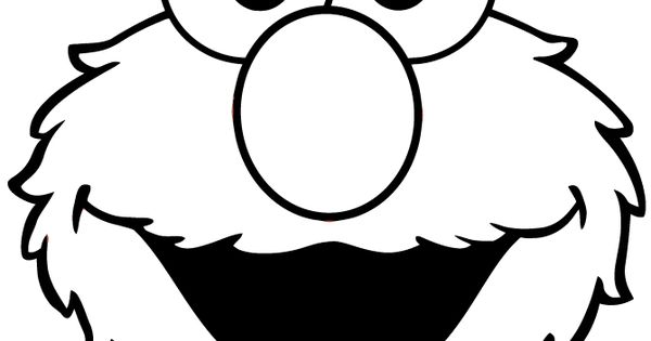 Cute Elmo Face Coloring Page 670x867