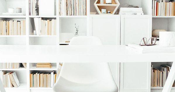 30 id es pour d corer un bureau avec un style scandinave carrelage bureau et murale bureau - Decorer un bureau ...