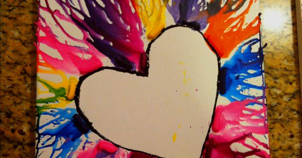 diy crayon heart project