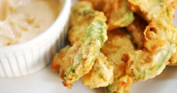 Avocado Fries with Wasabi Lime Mayo Dipping Sauce