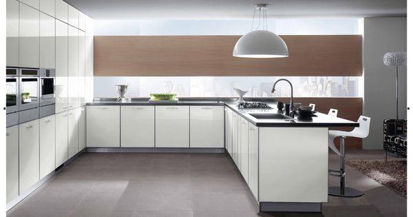 Scavolini crystal kitchen in white glass doors and dark for Scavolini kitchens toronto