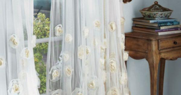 Cortinas con encaje y apliques ideas para el hogar - Apliques para cortinas ...