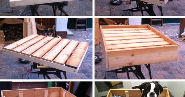 diy freutag hundebett aus holz selber bauen dog cat furniture and dog beds. Black Bedroom Furniture Sets. Home Design Ideas