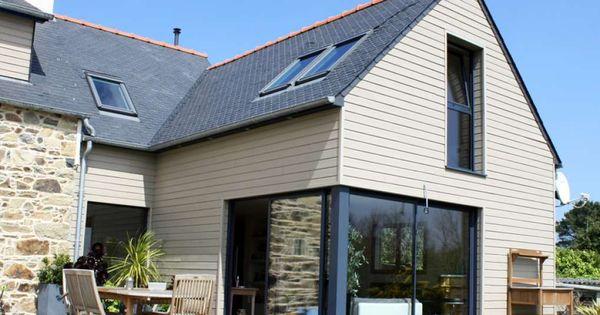 Extension sur maison en pierre typique bretagne - Isolation maison en pierre ...