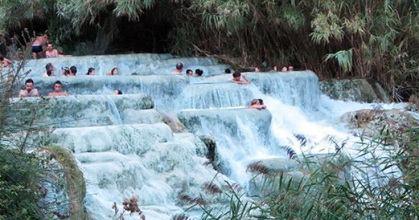 The Sulfur Infused Water Of The Hot Springs In Saturnia In