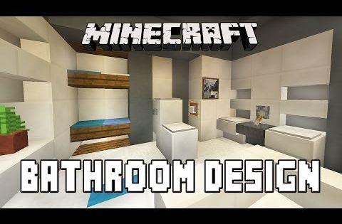 Minecraft Tutorial How To Build A Modern House Ep 7 Bathroom Furniture Design Ideas Http