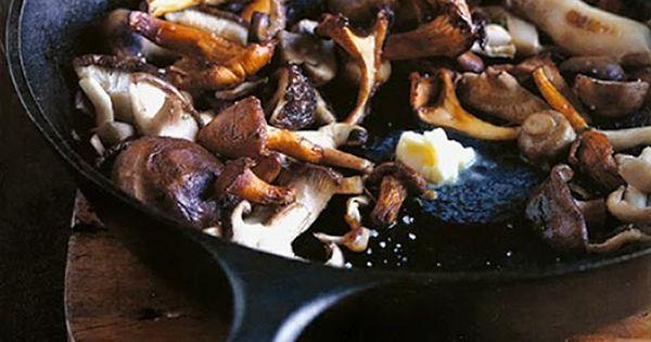 Mushrooms, Cast iron pans and Iron pan on Pinterest