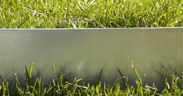 bordure planter metal acier galvanis gris h 13 x l 118 cm id es ext rieurs pinterest. Black Bedroom Furniture Sets. Home Design Ideas