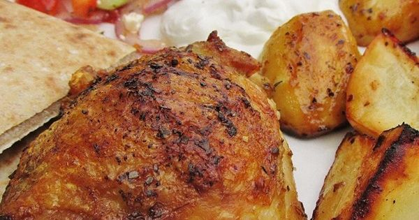 "Greek Lemon Chicken and Potato Bake I ""Fragrant, flavorful, delicious ..."