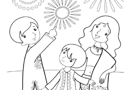 Diwali coloring page | Indian/Bollywood Party Theme ...