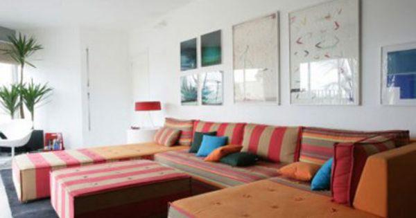 colourful retro living room furniture