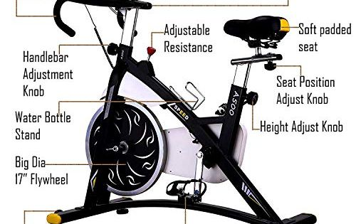 Kemket Spin Bike Indoor Cycling Aerobic Exercise Bicycle Fitness
