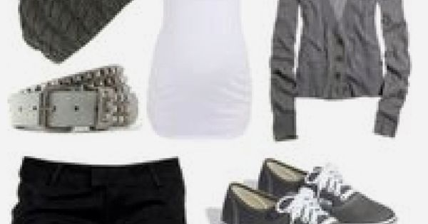 Cute Outfit - Spring or Summer Outfit - Gray Cardigan, White Top,