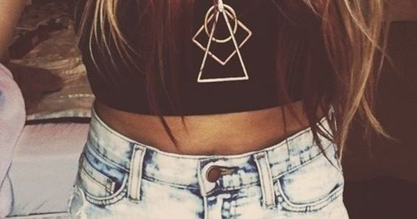 Jewels: geometric necklace cross necklace hipster high waisted short crop tops black