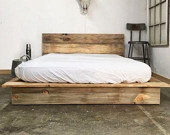 Unfinished Farmhouse Platform Bed Traditional Platform Frame