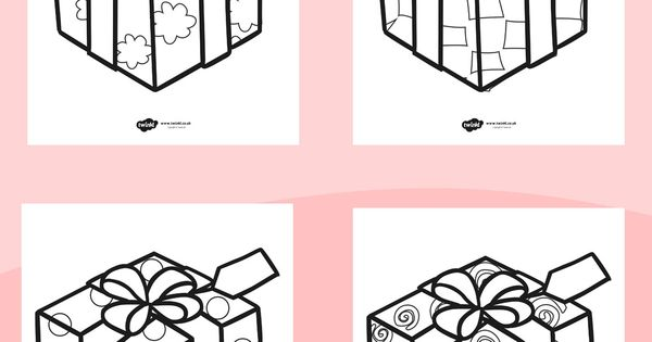 Twinkl Resources >> Patterned Presents Colouring Sheets ...