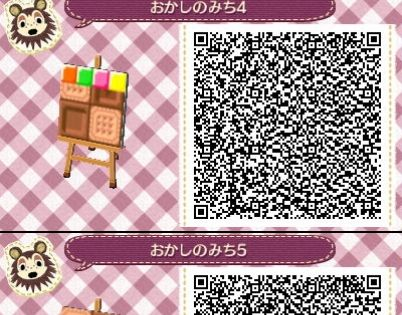 Animal Crossing New Leaf Qr Codes Sweets Pathway Outfits