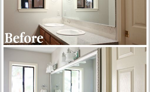 pinterest pinterest bathroom mirror makeover mirror makeover and
