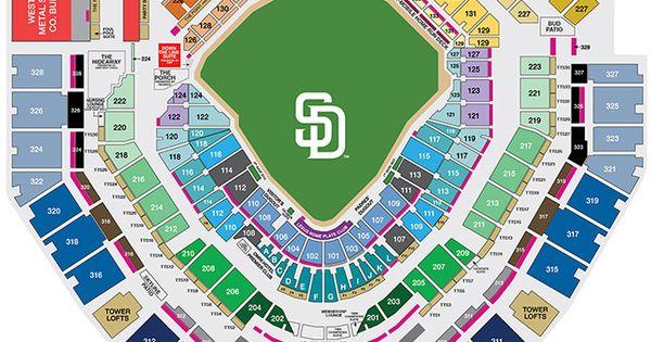 Petco Park Seating And Pricing Petco Park San Diego Padres San Diego