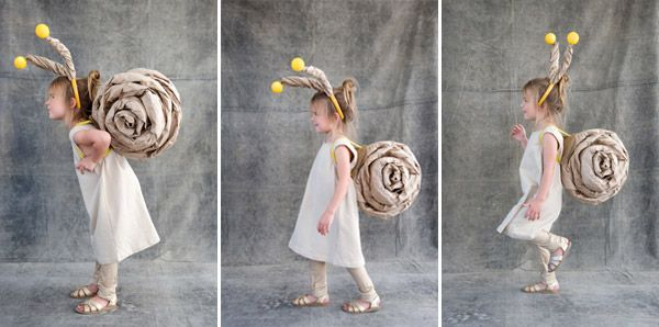 "DIY snail costume from the ""Homemade Halloween Series"""