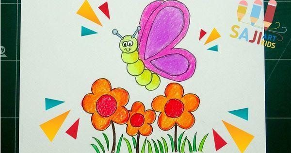 วาดร ประบายส ไม สวยๆ วาดร ปผ เส อสวยๆ How To Draw A Butterfly On A
