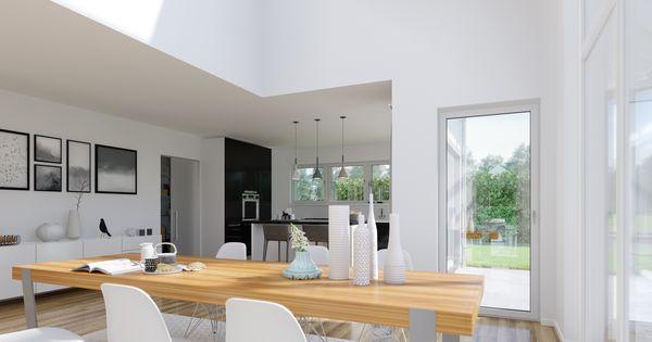 die offene galerie und der hohe wohnraum setzen das. Black Bedroom Furniture Sets. Home Design Ideas
