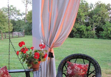 porch curtains (drop cloth curtains)