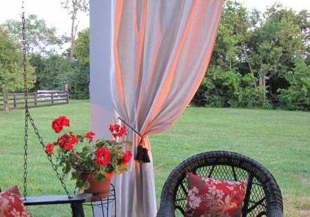 porch curtains (drop cloth curtains)