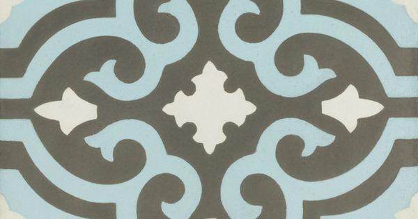 Vn negra 22 30x30cm zementfliesen von zementfliesen pinterest house - Credence cement tegel ...