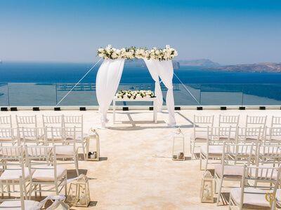 Luxury Private Vila Wedding In Akrotiri Santorini