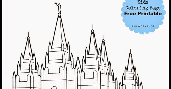 Salt Lake Temple Coloring Page Free Printable Salt