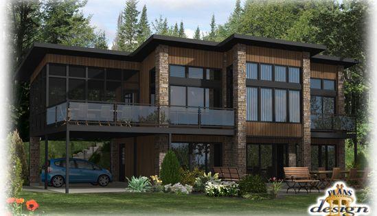 799 le heming chalet maison secondaire plans design for Modele maison californienne