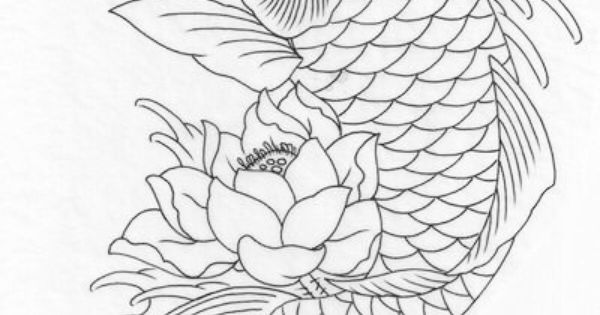 Koi coloring page Coloring Pages Momma Pinterest