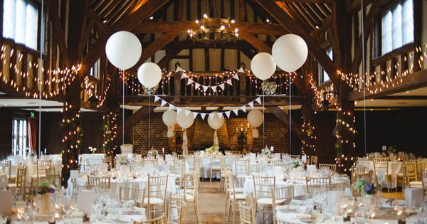 Rustic Amp Stylish White Wild Flower Barn Wedding At Great Fosters With A Sassi Holford Dress
