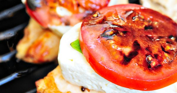 Caprese Grilled Chicken - 6 grilled boneless, skinless chicken breasts 1/4 cup