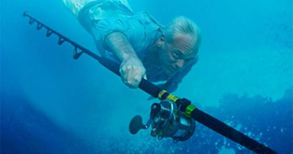 Jeremy wade under water with his rod share from the for Jeremy wade fishing rod