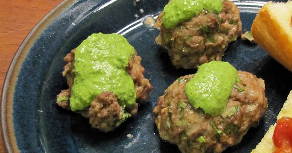 ... Lamb Meatballs with Cilantro Yogurt Sauce | Yummy | Pinterest | Lamb