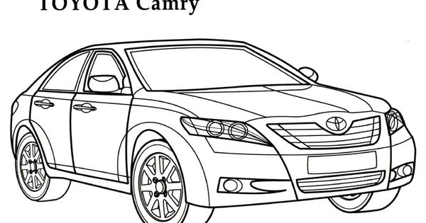 toyota camry car coloring page | coloring pages