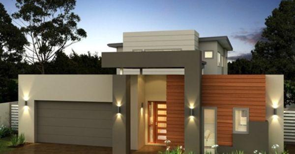 Fachadas de casas modernas com telhado embutido e for Pinturas de casas modernas