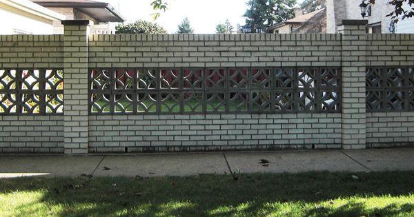 Brick Fence With Decorative Concrete Blocks Florida