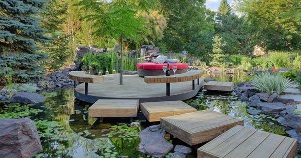 Bassin de jardin 25 id es pour rafra chir votre ext rieur d co et design - Deco bassin de jardin avignon ...